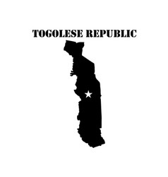 symbol of togolese republic and map vector image vector image