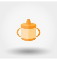 Baby cup icon vector image