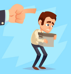 employee gets fired from his work sad businessman vector image