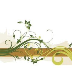 floral border background vector image vector image