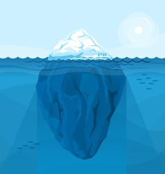 Full big iceberg in the sea vector image