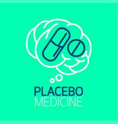 placebo medicine logo vector image