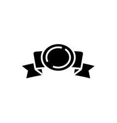 ribbon 2 corners with award icon vector image