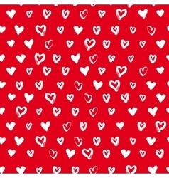 Seamless hand drawn hearts vector image vector image