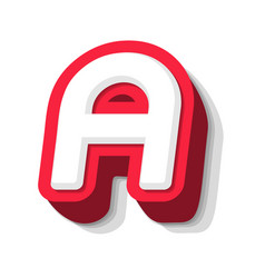 3d bold funny letter a heavy type for modern vector