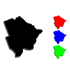 3d map of botswana vector image