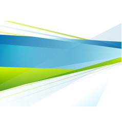 Abstract blue and green tech stripes background vector