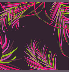 Background with decorative palm leaves vector