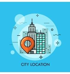 big city landscape business center view vector image