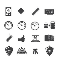 Big data icon set system infrastructure vector