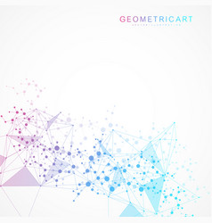 Big data visualization background modern vector