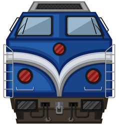 Blue train design on white background vector
