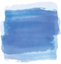 Blue watercolor background banner for your design vector