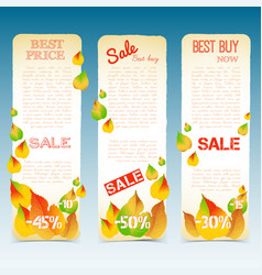 business natural seasonal vertical banners vector image