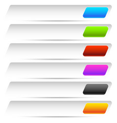 Buttons banners in several color horizontal vector