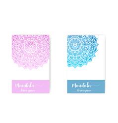 card with mandala decorative elements vector image