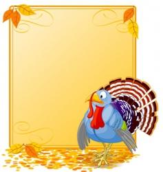 cartoon turkey banner vector image