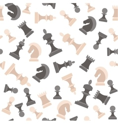 Chess Pieces Background Pattern vector image