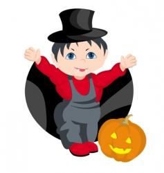 child Halloween vector image