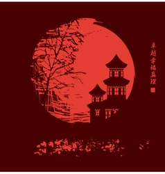 China night vector