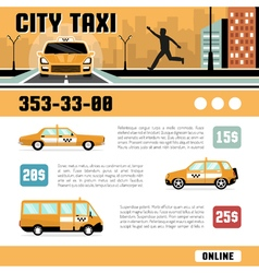 City taxi services web page template vector