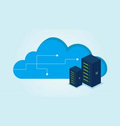 Cloud servers vector