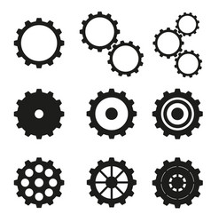 cogwheels set icons vector image