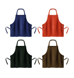 Colored blank aprons vector