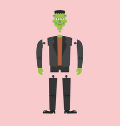 corpse of green zombie vector image