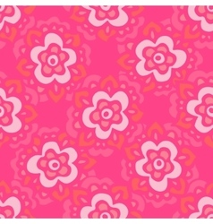 Cute pink Seamless floral pattern vector image