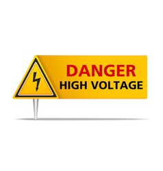 Danger High Voltage vector
