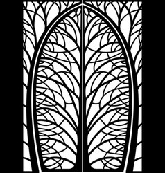 Decorative frame forged wicket branches vector