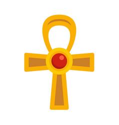 Egypt ankh cross icon flat isolated vector