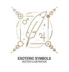 Esoteric symbols thin line vector