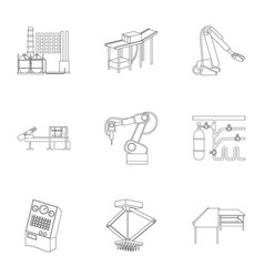 Factory equipment and machines and other web icon vector