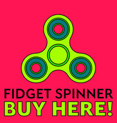 Fidget spinner stress relieving toy trendy hand vector