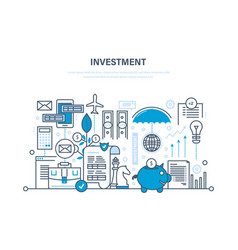 Financial investments marketing analysis vector
