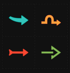 four new simple arrows vector image
