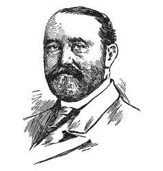 Frederick dent grant vintage vector