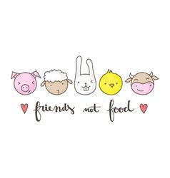friends not food vector image