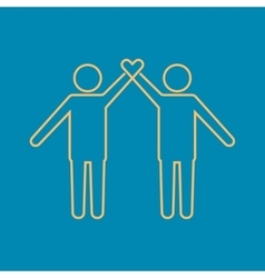 Friendship icon vector image