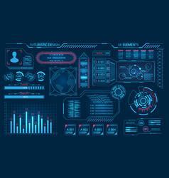 Futuristic virtual graphic user interface hud vector