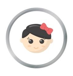Girl face cartoon icon for web and vector