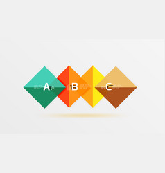 Glossy squares with text abstract geometric vector