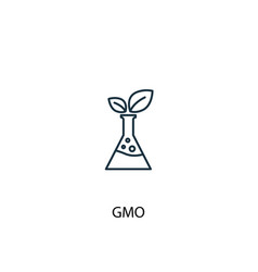 gmo concept line icon simple element vector image