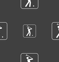 Golf sign Seamless pattern on a gray background vector image