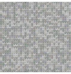 Gray seamless texture of knitted fabrics vector image
