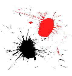 grunge shapes isolated on white background vector image vector image