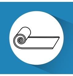 Gym stretcher icon vector