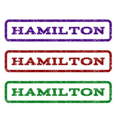 Hamilton watermark stamp vector